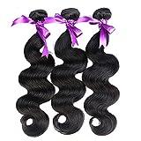 Alidoremi Hair Malaysian Body Wave Hair 3 Pcs Human Hair Bundles Non Remy Hair Extention 8-28 inch (Length : 20 20 20)