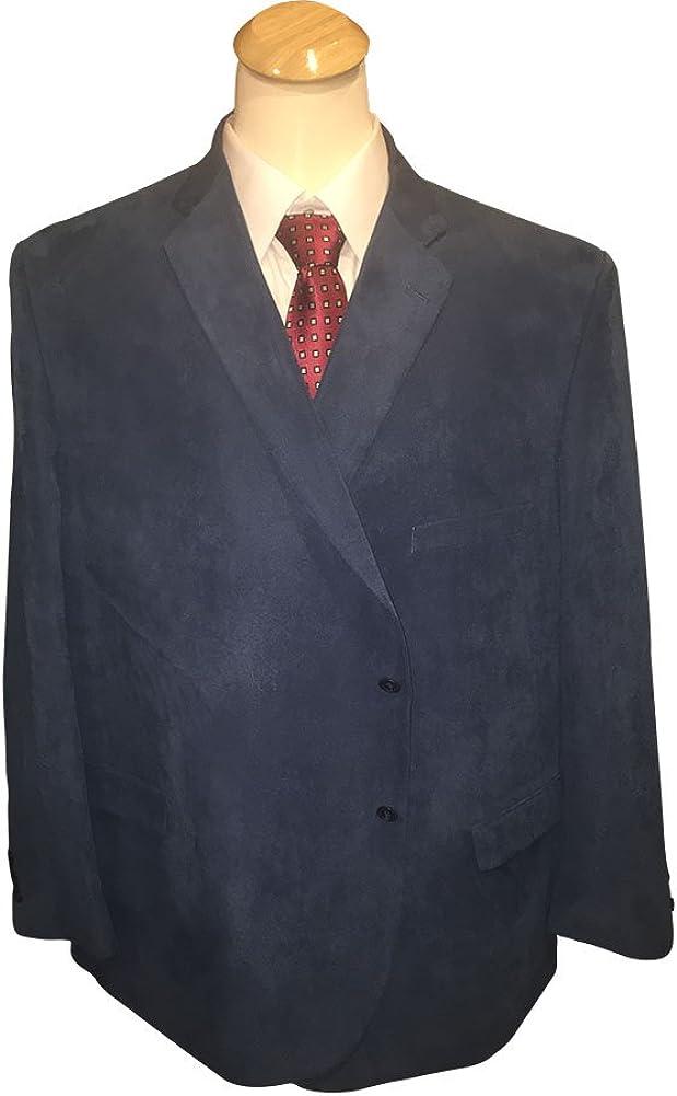 Jean-Paul Germain 58 Long Portly 100% Microfiber Navy Textured Casual Dress Sport Coat 58PL