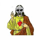 A/X 13 cm 11,6 cm para la Imagen de la Camiseta de MF Jesús, ilustración, Coche de Motocicleta DIY