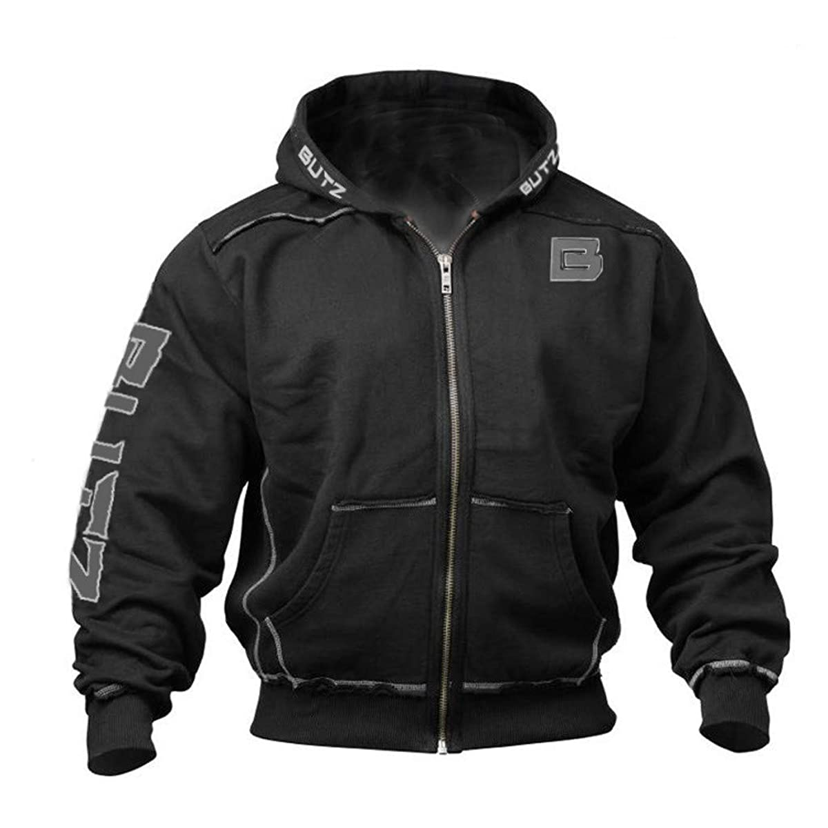 WUYIMC Men Jacket Coat, Winter Splicing Zipper Color Pullover Long Sleeve Hooded Sweatshirt Tops Blouse