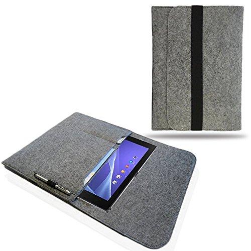 NAUC Tasche Hülle für Odys Winpad V10 Filz Sleeve Schutzhülle Hülle Cover Bag, Farben:Hell Grau