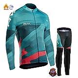 WWC Automne et Hiver Nouveau NW Northwave Vêtements de Plus Cyclisme Costume Epais Polaire Chaud à Manches Longues Vélo (6,L)