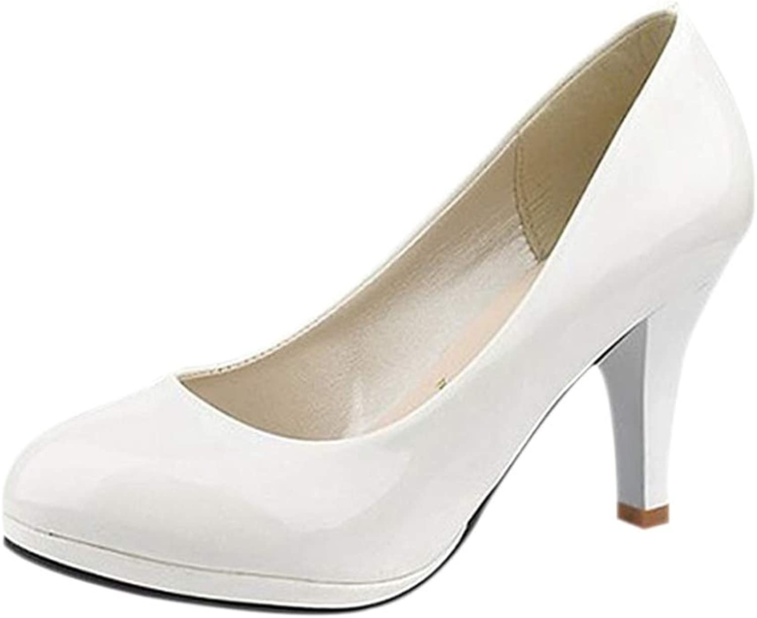 Lady Round Toe shoes Platform Hight Heels Classic Sexy Basic Office Women Wedding Party Elegant Pumps