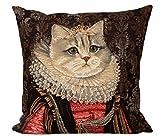 GH Gobelin Kissen Königliches Portrait Katze