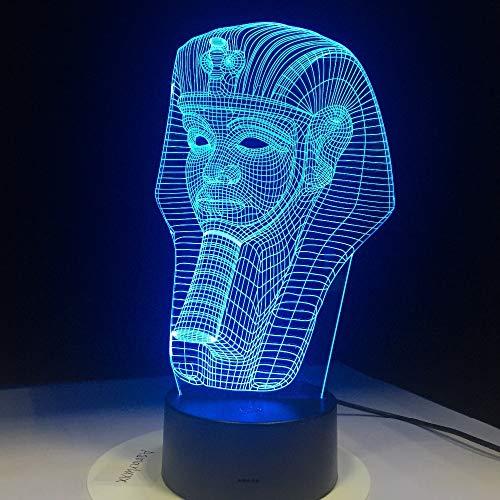 Lampada da tavolo a LED colori chiari luce LED illusione LED forma classica 3D faraone illusione LED