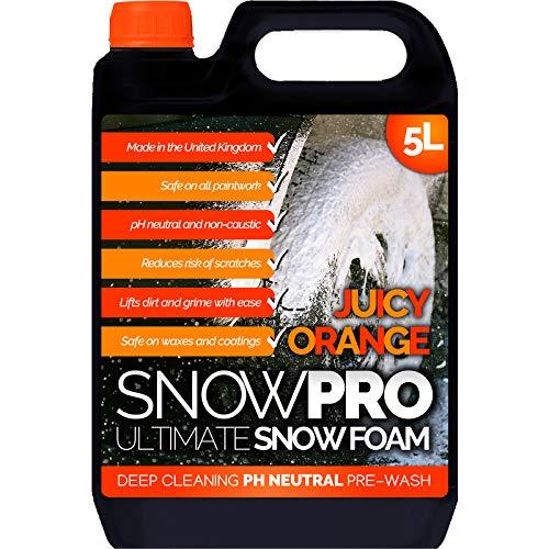 SnowPro Snow Foam Shampoo Autowaschseife, 5 l, pH-neutral, Fahrzeugreinigung, Details, Vorwäsche, Orangenduft