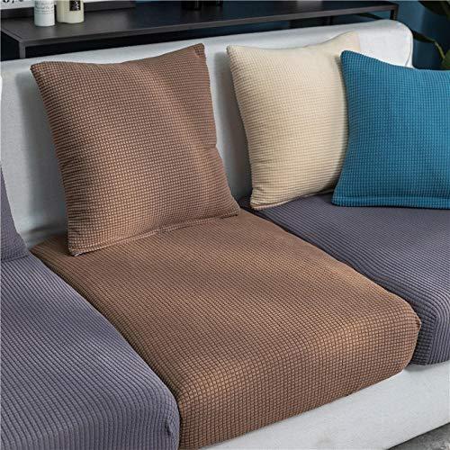 B/H Lavable/Antiácaros Funda de sofá,Cojín de sofá de Lana de maíz, Funda de sofá elástica de Color sólido-I_100-125cm,Sillón Elastano Fundas de Sofá