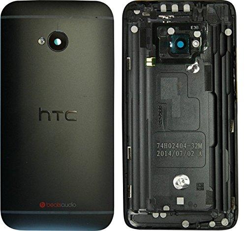 Akkudeckel für HTC One M7 Backcover Gehäuse Schale Deckel Cover Schwarz/Werkzeug Set