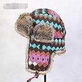 Unexceptionable-Bomber Hats Automne Hiver Hommes Femmes Coréenne Tendance Lei Feng Bonnet Casque De Ski en Hiver Bonnet Oreille Hiver Chapeau pour Enfant TB3727-picture_58 cm