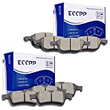 ECCPP 8pcs Front Rear Ceramic Disc Brake Pad Kit for 2012-2015 Ford Focus,Mazda 3/5,2008-2013 Volvo C30,2006-2013 Volvo C70,2004 2006-2011 Volvo S40/V50