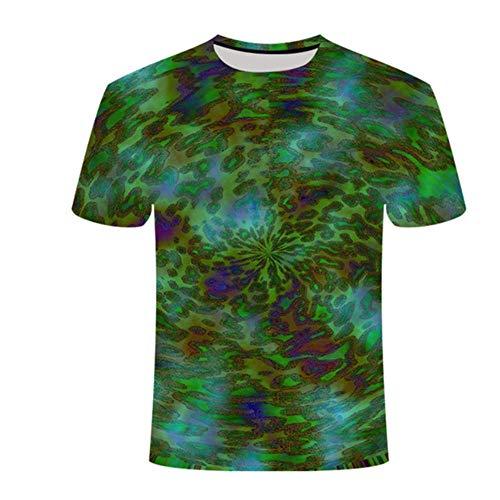 Preisvergleich Produktbild NBQWER 2020 Herren Rundhals-Casual-Kurzarmhemd Sommerdruck 3D-bedrucktes Streetwear-T-Shirt XXS-4XL-2XL