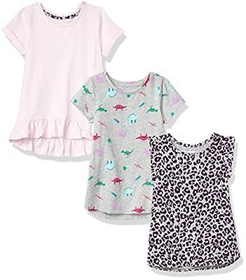 Amazon Essentials Girls' 3 Pack Tunic, Animal, XXL