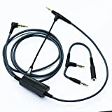 NewFantasia Cable Boom Microphone Volume Compatible with Gaming PS4 Xbox One PC Laptop Phone, Compatible with V-Moda Headphone, Compatible Most 3.5mm Input Headphone 6.6ft