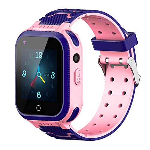 Kids Smart Watch, 4G WiFi GPS LBS Tracker SOS Emergency Call Video Chat Children Smartwatches, IP67 Waterproof Phone Watch for Boys Girls, Compatible with Android/iPhone