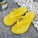 wenhua Chanclas Unisex Adulto,Zapatos de Playa Antideslizantes de Moda, Zapatillas de Espina de Pescado para Masaje en el baño, Yellow_37Ultraligero cómodo y Antideslizante