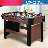TriGold Wooden Foosball Game With Scoreboard,Professional Football Table Competition Sized,Steady Tabletop Soccer Game For Home Leisure A