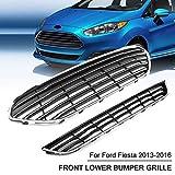 SHENYF Parachoques Delantero del Coche Parrilla Parrilla Centro Superior Inferior Salida de Aire for Ford/Fiesta Hatchback Sedan 2013 2014 2015 2016 (Color : Set)