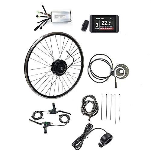 "ZLM E-Bike-Kit 48V 500W Die Vordere Motor-Rad-Elektro Fahrrad-Umwandlungs-Motor Kit E-Bike Cycling Mit LCD8 Anzeige Elektro-Bike Conversion Kit,48v 500w,26"""