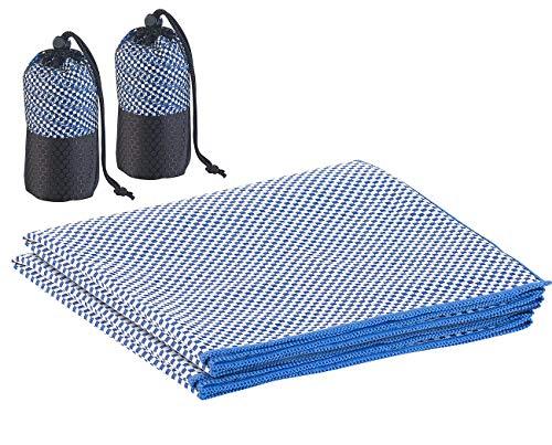 PEARL Bambusfaser-Handtuch: 2er-Set schnelltrocknende, leichte Bambus-Handtücher, 80 x 40 cm (Quick Dry Handtücher)