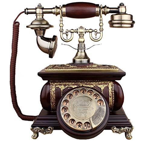 ZARTPMO Accesorio Retro para el hogar Decoración con Cable Teléfono Retro Moda Antigua Tono de Timbre Tradicional