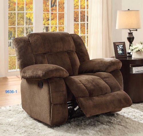 "Homelegance Laurelton 90"" Microfiber Double Reclining Sofa, Chocolate Brown"