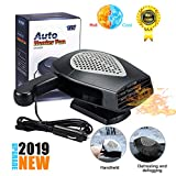 【2019 New Upgrade】Portable Car Heater,Auto Heater Fan,Car Windshield Defogger Defroster,2 in1 Fast Heating or Cooling Fan,12V 150W Auto Ceramic Heater Fan 3-Outlet Plug in Cig Lighter (Black)