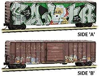 Micro-Trains MTL N-Scale 50ft Box Car Southern Santa Christmas Graffiti #526306