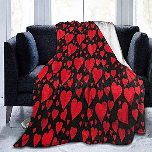 Rouge Free Size Matedepreso Forme Coeur Tapis Couverture Moelleux Imitation Laine Peluche Tapis pour S/éjour Chambre