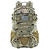 Jueachy Tactical Backpack for Men Molle Military Rucksack Pack Waterproof Daypack 30L with USA Flag Patch