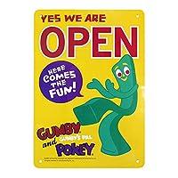 プラスチックメッセージサインボード GUMBY ガンビー OPEN アメリカ雑貨 看板 店舗装飾