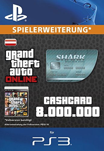 Grand Theft Auto Online | GTA V Megalodon Shark Cash Card | 8,000,000 GTA-Dollars | PS3 Download Code - österreichisches Konto
