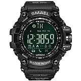 JTTM Herren Sport Digital Uhren 50 M Wasserdicht Sport Armbanduhr Mit Wecker Stoppuhr Schwarz Big...