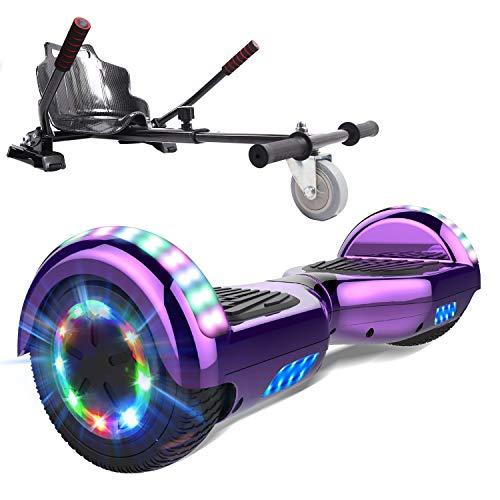 """MARKBOARD Skateboard 6,5""""à équilibrage Automatique - Haut-Parleur Bluetooth intégré z29 (Purple)"""