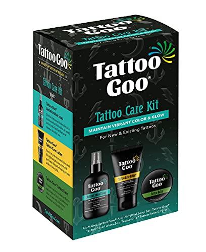 Tattoo Goo Tattoo Goo Aftercare Kit Includes Soap, New Formula, Tattoo Goo, Lotion, 3 Piece Set