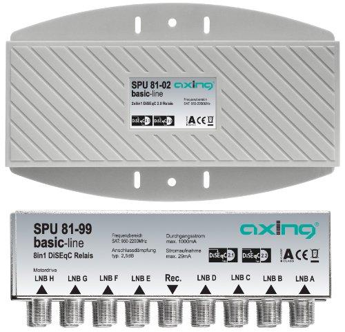 Axing SPU 81-02 DiSEqC 2.0 - Conmutador con 8 LNB dobles en...