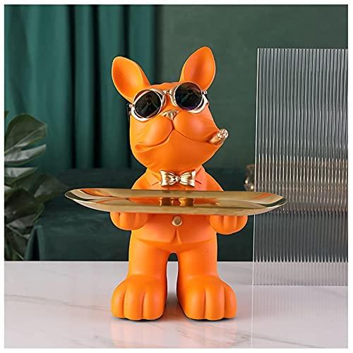 Bandeja para llaves de perro para mesa de entrada, ideal para mesa de café, teléfono, caramelos, relojes, organizador de joyas, bandeja para sala de estar, porche, bandeja decorativa