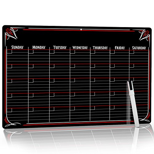 PVC Dry Erase Monthly Magnetic Calendar with - No Stain Technology.