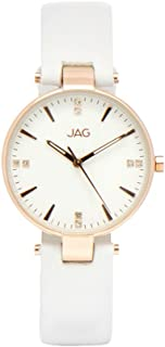 JAG Women's J1946 Year-Round Analog Quartz White Watch