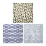 ABAKUHAUS Pack de 3 Bandanas Unisex, Cuadrados redondeados abstracta del chapoteo de puntos en colores pastel Triángulos puntos, Multicolor