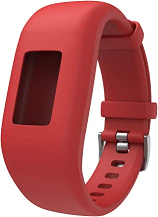 ANCOOL Compatible with Vivofit JR 2 Bands Soft Silicone Wristbands Replacement for Garmin Vivofit JR 2/Vivofit JR/Vivofit 3 Tracker, Red