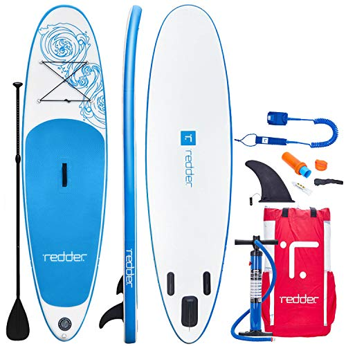 redder 10ft Paddle Board VORTEX Inflatable Stand-Up Paddle Board Kit-Air Pump With Pressure Gauge, 3...
