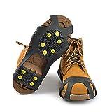 Diamondo 10-Stud Universal Ice No Slip Snow Shoe Spikes Grips Cleats Crampons (M(LW=195125mm) USA(5-8))