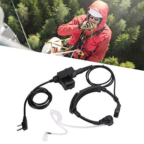 con Auricular de Cabeza U174 U94-K Auriculares Resistentes y duraderos Material ABS Flexible, para Walkie Talkie