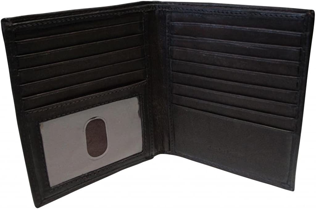 Paul & Taylor Men's Leather Hipster Bifold Wallet
