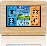 Wireless Weather Station Indoor Outdoor Thermometer, Home Digital Wireless Color Forecast Station Temperature