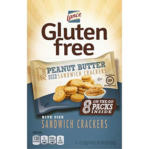 Lance Gluten Free Sandwich Crackers, Peanut Butter, Snack Bags 8 Count