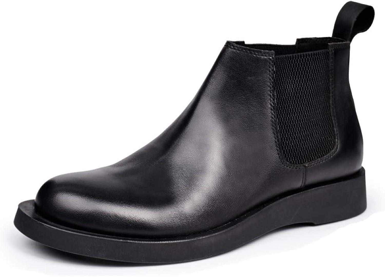 Mans stövlar Ankle stövlar stövlar stövlar Genuine läder Vintage Martin Chukka stövlar Business Casual  försäljning online spara 70%