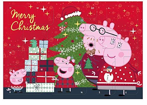 Adventskalender – Peppa Pig – schrijfwaren – knutselgerei – adventskalender – hiermee wordt de tijd voor kerst heerlijk spannend achter de 24 deurtjes vind je leuke dingen