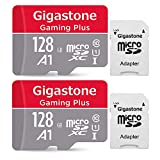 Gigastone 128GB 2-Pack Micro SD Card with Adapter, Gaming, A1, U1 C10 Class 10 95MB/s, Full HD available, Micro SDXC UHS-I Memory Card