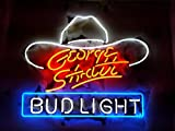 """Desung New 20""""x16"""" George Strait Bud-Light Neon Sign (Multiple Sizes Available) Man Cave Signs Sports Bar Pub Beer Neon Lights Lamp Glass Neon Light CX217"""